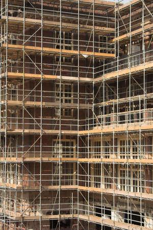 Scafford on a building 版權商用圖片