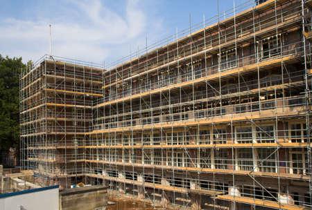 Scaffold on a building 版權商用圖片