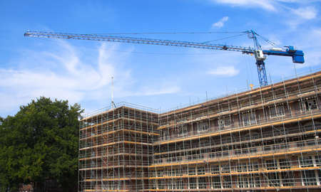 Construction work on a building