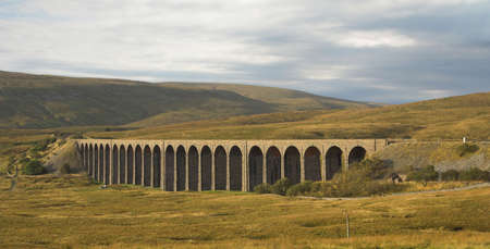 viaduct: Ribblehead Viaduct in the Yorkshire Dales
