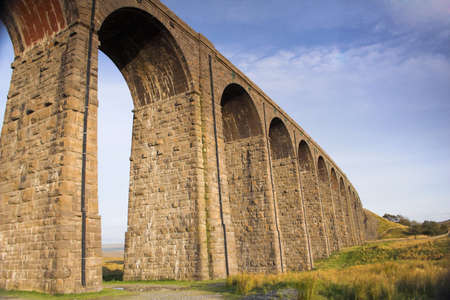 dales: RibbleheadViaduct in the Yorskshire Dales Stock Photo