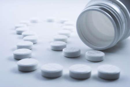 Bottle of paracetamol tablets