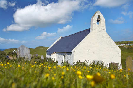 Mwnt Chapel in Cardiganshire, wales.