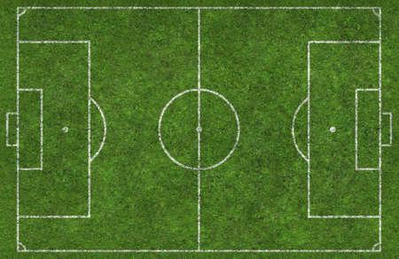 overhead shot: Overhead shot of a football pitch Stock Photo