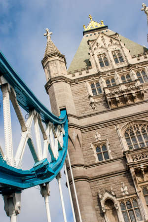 achitectural: Architectural detail of Tower Bridge, London, England  Editorial