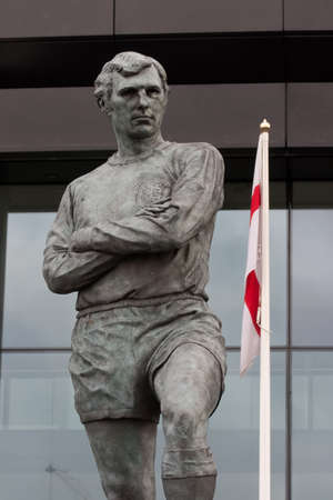 wembley: Bobby Moore statue outside Wembley Stadium, England