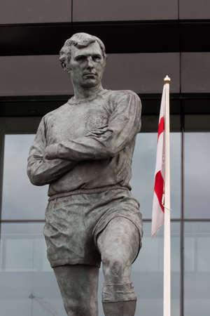 wembley: Bobby Moore statue outside Wembley Stadium, England