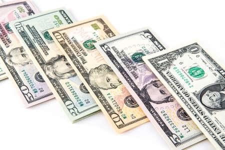 money pile: A pile of US money