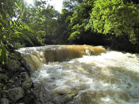fast flowing jungle river
