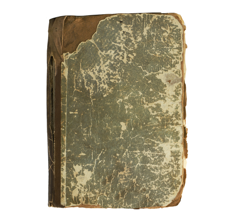 deckled: old book on a white background