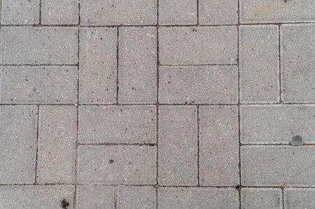 granite tiles of various shapes on a pedestrian road Stockfoto