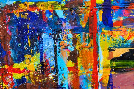 Makro Nahaufnahme von Ölfarbe in verschiedenen Farben