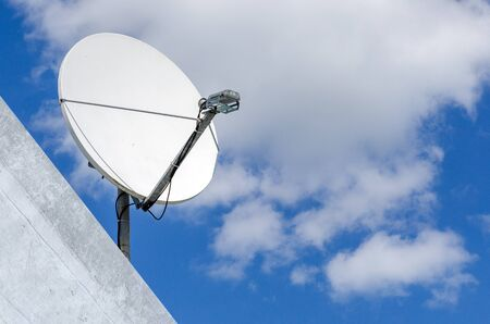 Satellite dish system icon technology