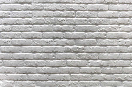 Light brick wall. White misty brick wall for background or texture