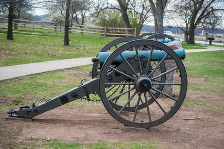 gettysburg battlefield: Cannon Stock Photo