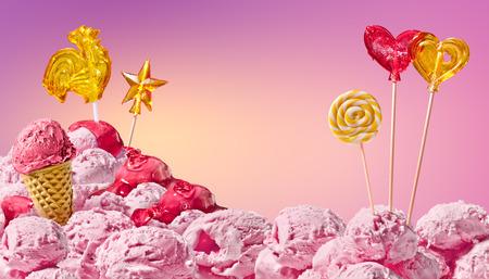 golosinas: dulce paisaje m�gico de helados y dulces