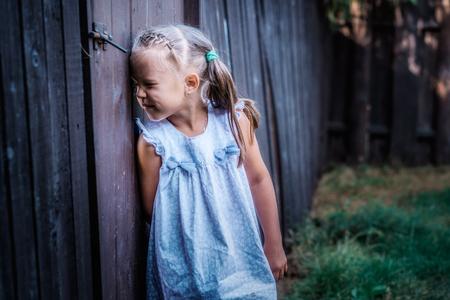 Little girl peeping