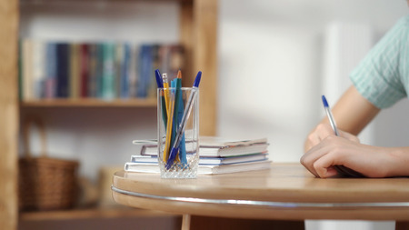 Office concept with pens and pencils Stock Photo