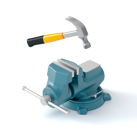 bench vise and hammer
