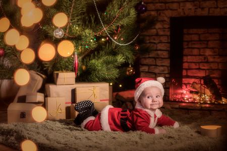 baby Santa Claus celebrates Christmas
