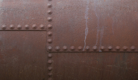 metal background with rivets Stock Photo