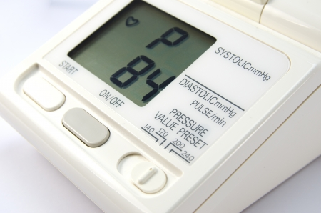 preassure: Blood preassure and heart monitor Stock Photo