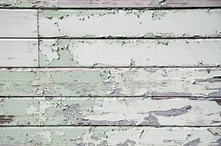 Painted peeling wooden panels texture photo