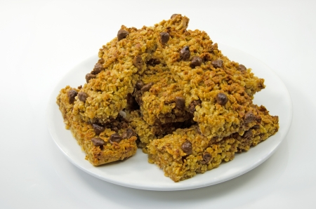 Delicious home made Flapjack oat cakes photo