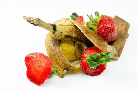Fruit waste on a white background Stock Photo - 21159367