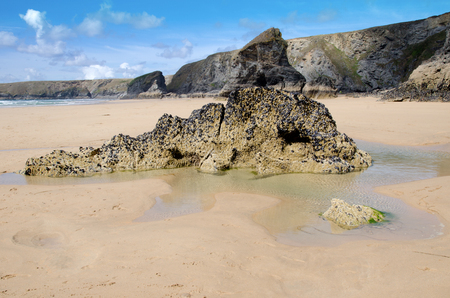 Bedruthan Steps beach, Cornwall, England photo