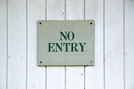 No entry sign photo