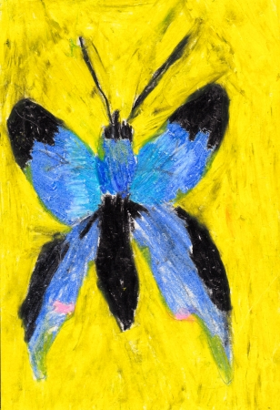 child's: Childs painting of a butterfly