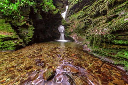 St Nectan's waterfall is in a designated Site of Special Scientific Interest  SSSI , it has been described as amongst the ten most important spiritual sites in the country A place of outstanding natural beauty  Stock Photo - 13834361