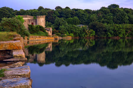 Calming reflections on Devon Lake, UK Stock Photo - 13835063