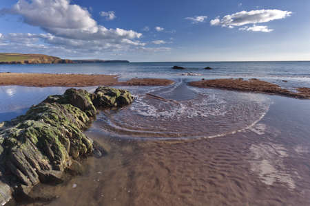 burgh: Bigbury on sea overlooking Burgh Island, Devon, UK Stock Photo