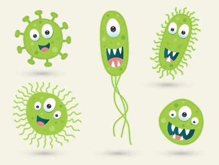 Un conjunto de caracteres germinales verdes lindas Foto de archivo - 39492848