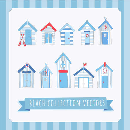 seaside: Hand Drawn Beach Collection Vectors