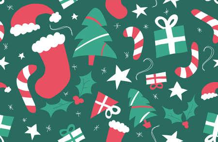vintage patterns: Christmas Repeating Pattern