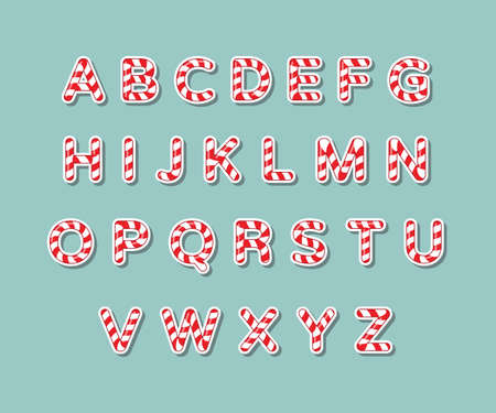 Alphabet candy cane illustration