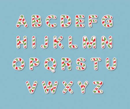 Rojo y verde caramelo del alfabeto Foto de archivo - 48077853