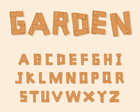 typesetting: Hand Drawn Wooden Alphabet