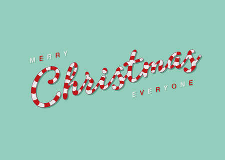 everyone: Merry Christmas Everyone - Candy Cane Script font