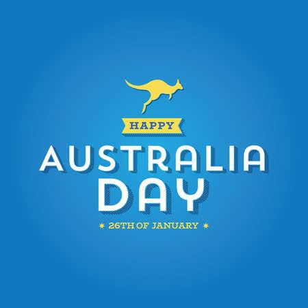 Happy Australia Day Logo  icon - Vector illustration