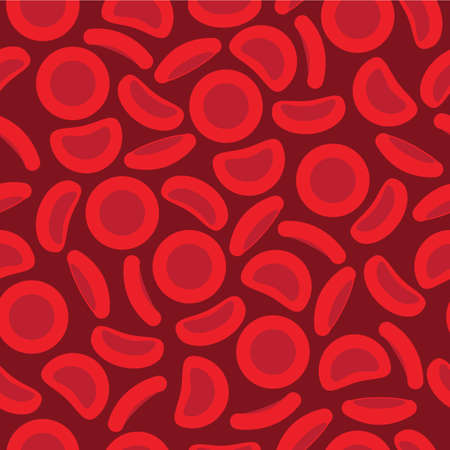 Blood Cells in a repeat pattern - Vector illustration Imagens - 86083275