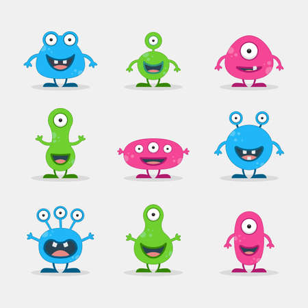 Cool, fun, cute Creature  alien - vector illustration