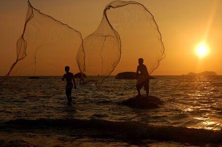 fish net: The fisherman Stock Photo