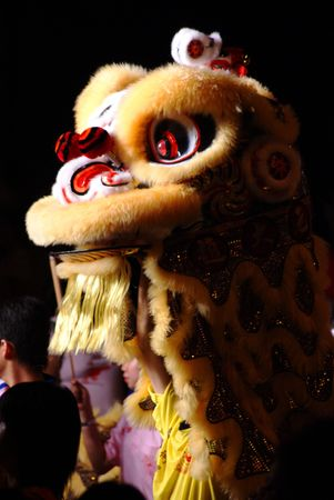 lion dance: The Chinese Festival, Lion Dance Stock Photo