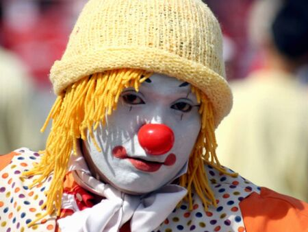 comedian: Comedian Clown at Themepark