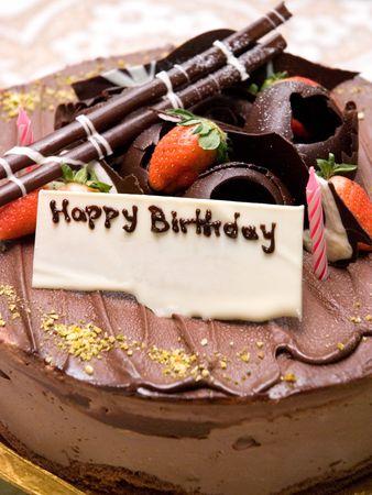 Pastel de chocolate de cumpleaños Foto de archivo - 5174976