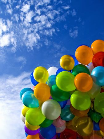 The Colorful Ballons Stock Photo